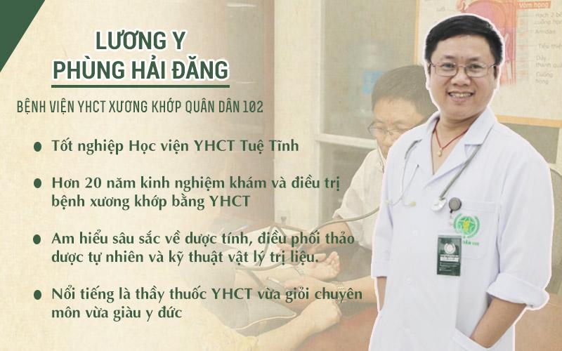 Lương y Phùng Hải Đăng chữa xương khớp Quân dân 102