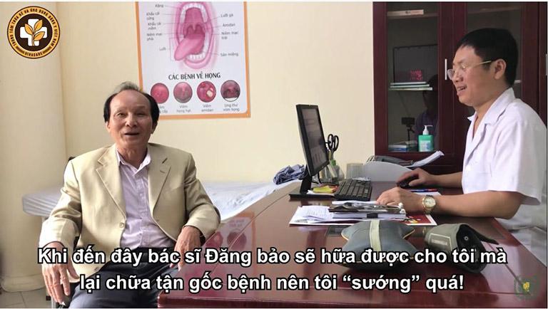 Ông Hồ Sỹ Nhiếp chia sẻ về quá trình điều trị bệnh xương khớp của bản thân