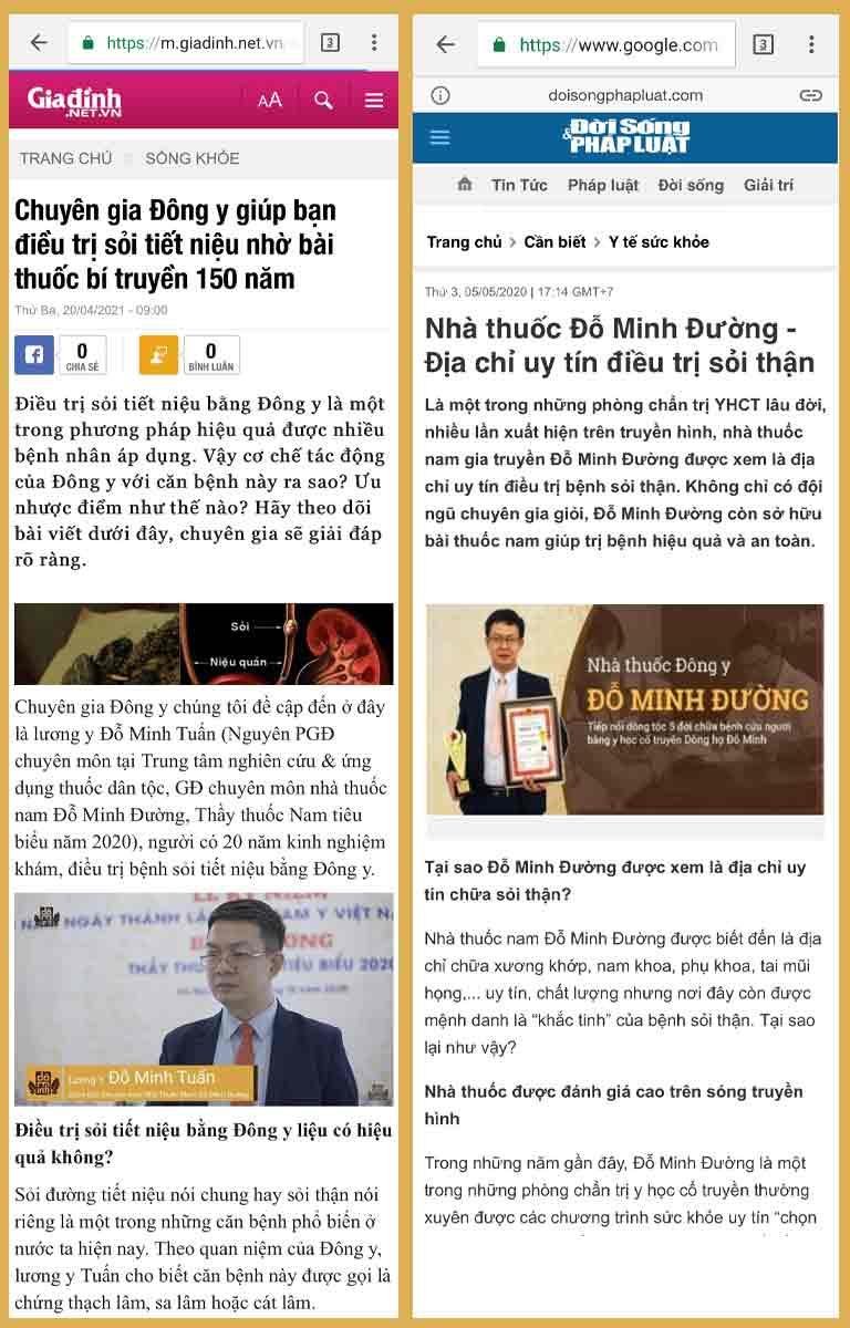 bài thuốc Đỗ Minh Bài Thạch Khang được báo chí đưa tin