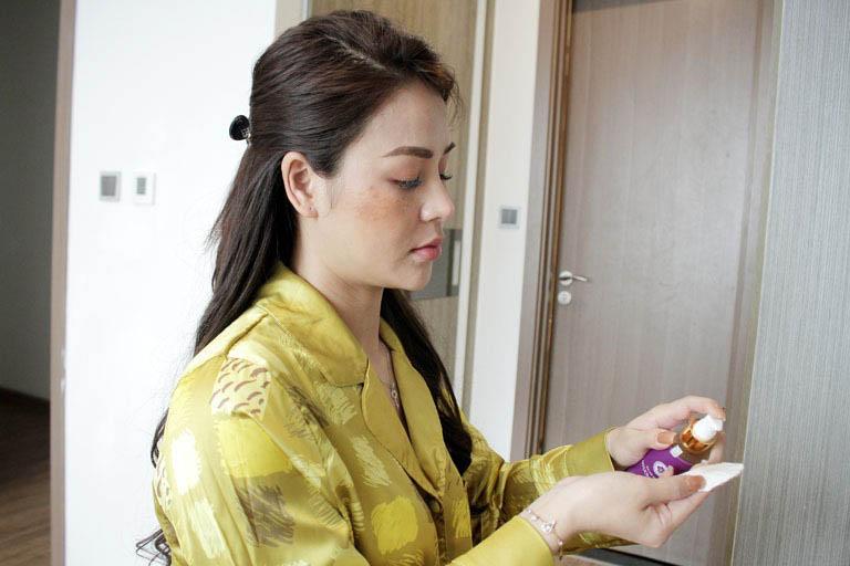Bộ sản phẩm Vương Phi với cách dùng tiện lợi được diễn viên Thu Trang đánh giá cao