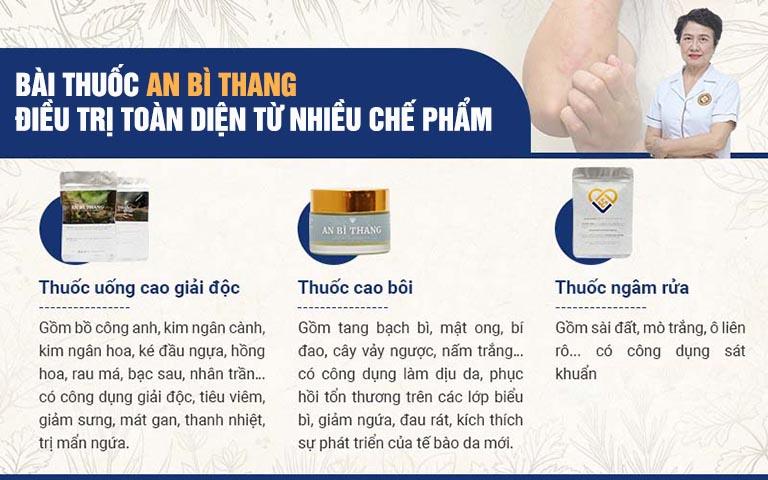 3 chế phẩm chính cấu thành bài thuốc An Bì Thang