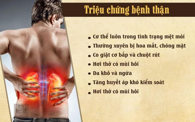 Một số triệu chứng khác của bệnh thận
