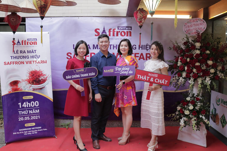 Buổi lễ ra mắt thương hiệu Saffron Vietfarm
