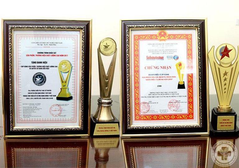 Trung tâm Phụ Khoa Đông y Việt Nam nhận được nhiều giải thường danh giá