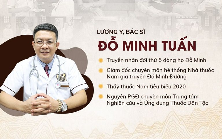 Lương Y Đỗ Minh Tuấn hiện đang là giám đốc chuyên môn nhà thuốc Đỗ Minh Đường