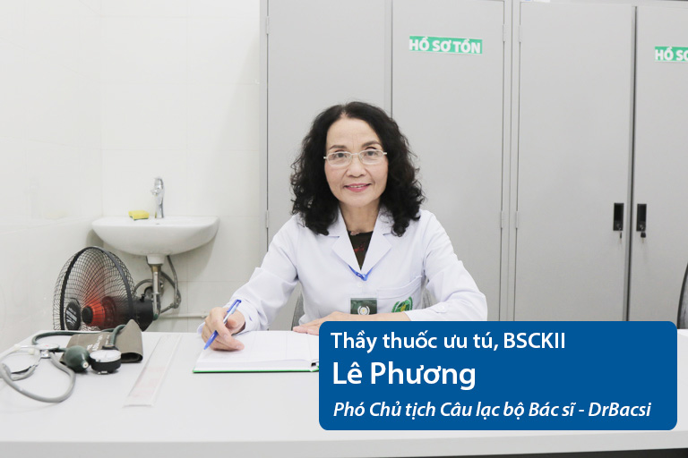 Thầy thuốc ưu tú, BSCKII Lê Phương - Phó Chủ tịch Câu lạc bộ Bác sĩ