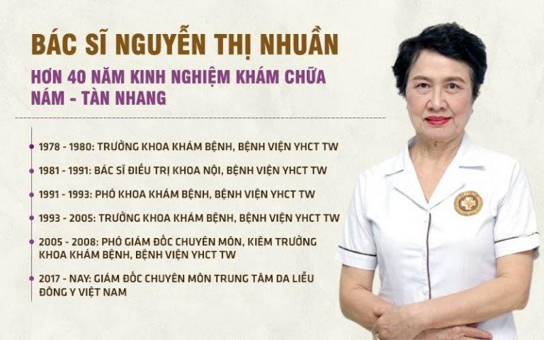 Quá trình công tác của bác sĩ Nguyễn Thị Nhuần