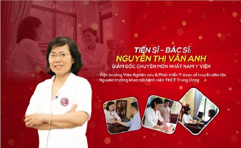 Tiến sĩ - Bác sĩ CKII Nguyễn Thị Vân Anh - Bác sĩ đa khoa YHCT với 40 năm kinh nghiệm trong nghề