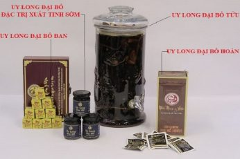 Hình ảnh Bộ sản phẩm Uy Long Đại Bổ được phục dựng thành công từ bài thuốc bí truyền triều Nguyễn.