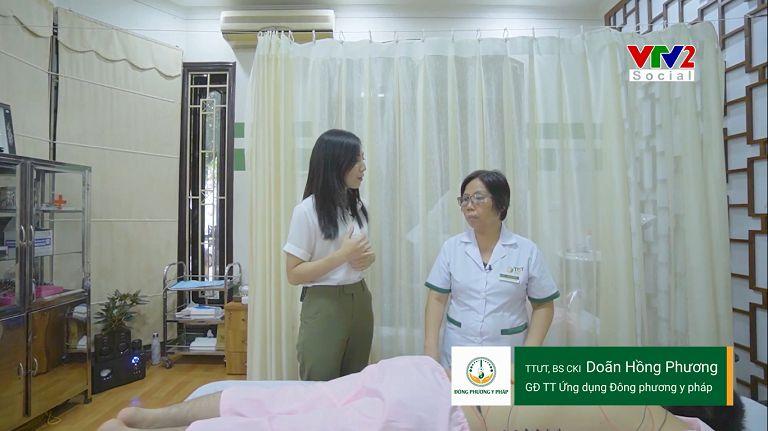 Bác sĩ Doãn Hồng Phương xuất hiện trên VTV2 giới thiệu về các phương pháp vật lý trị liệu Đông phương Y pháp