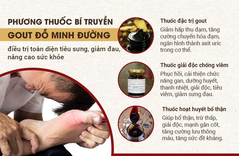Bài thuốc Gout Đỗ Minh với công thức 3 trong 1