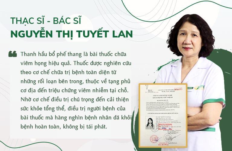Đánh giá của bác sĩ Tuyết Lan