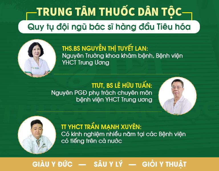 Đội ngũ bác sĩ Tiêu hóa tại Thuốc dân tộc