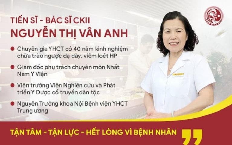 Tiến sĩ, Bác sĩ CKII Nguyễn Thị Vân Anh – Giám đốc chuyên môn Nhất Nam Y Viện