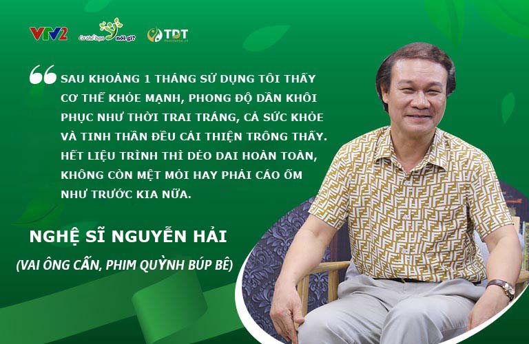 Nghệ sĩ Nguyễn Hải cho phản hồi tích cực sau khi sử dụng Mãnh lực Phục dương khang