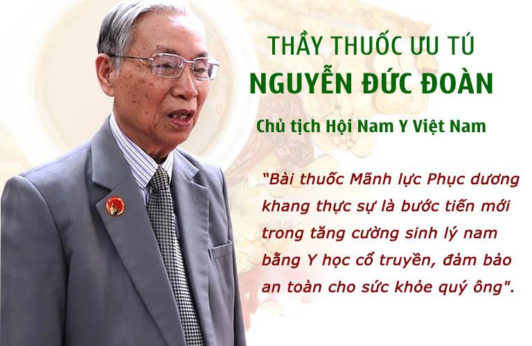 Chủ tịch Nguyễn Đức Đoàn đánh giá cao hiệu quả của bài thuốc