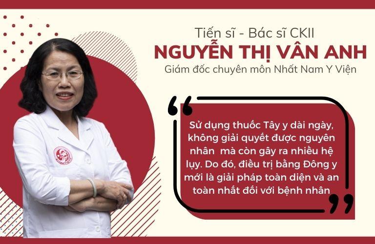 Bác sĩ Vân Anh cho biết Đông y mới là giải pháp chữa đau dạ dày an toàn và toàn diện nhất cho bệnh nhân