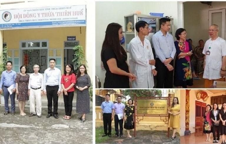 Bác sĩ Nguyễn Thị Vân Anh và các chuyên gia đến Huế để tìm hiểu tài liệu về những bài thuốc của Thái Y Viện triều Nguyễn